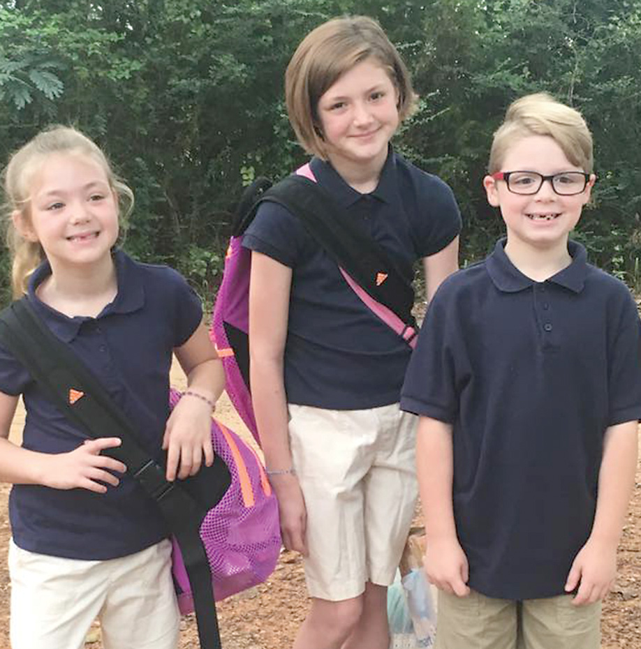 Starting their first year at Marthaville Elem/Jr. High School are Lanie, Melanie and Gavin Clary. Parents are Joey and Lisa Clary of Marthaville. Lanie and Gavin are in Mrs. Stepp's second grade and Melanie is starting the sixth grade.