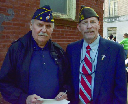 Mike Menou and Bob Gillan attended the 2017 Veteran's Day Program at the Natchitoches Parish Veterans and Memorial Park.