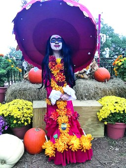 Khloe Soto-Adams, 7, was La Huerta from 'The Book of Life.' Her grandparents are Timothy and Michelle Adams. Her grandmother made her hat, dress and did her makeup.