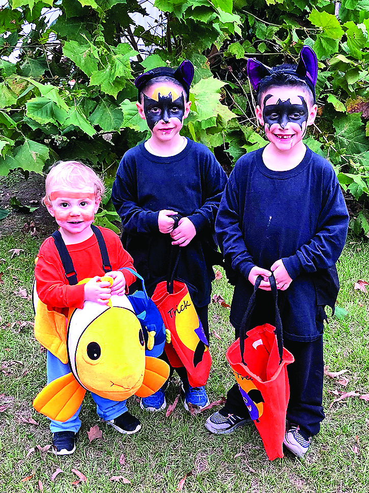 From left are Lane (as Nemo from 'Finding Nemo') and bats, Jalen and Jaden Stewart.
