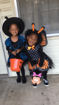 Genesis Robinson and Brielle Williams went to the NSU CAPA Trunk or Treat.