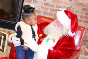 AuBrey Smith has a chat with Santa.