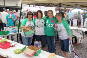 Members of the West Central LA team for Operation Christmas Child are, from left, Brenda Ingram, Michelle Williams, Christine Hampton and DeeDee Perot.