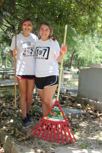 "Alanna Woodel - ""I've been part of the PLP since I was a freshman. I'm from the area and it's just great to give back to my community."" Clair Leming - ""As the 1 of 7 Co-Chair, I love doing community service for a community that gives so much to us. I'm proud to do this not only as a Demon, but as a Natchitoches resident."""