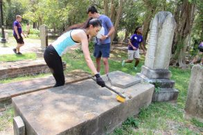 """Selina Rouze - """"I'm with PLP. After I get my business degree from NSU, I want to stay in Natchitoches. It's important to me to restore the cemetery in the community I want to stay in."""""""