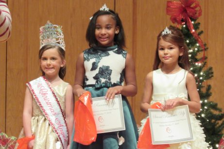 From left are Second Grade Christmas Angel Jolee Shea, First Runner Up Paityn Morgan Anthony and Second Runner Up Brylie Davis.