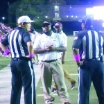 NCHS-Coach Byron Keller discusses the penalty that took the touchdown of the scoreboard