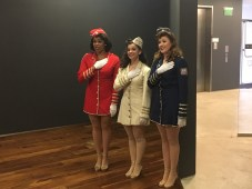 The Victory Belles performed at the exhibit's reception. They are Jessica Mixon, Haley Taylor and Mandi Mueller.