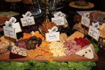 The food table had several delicious appetizers for guests.