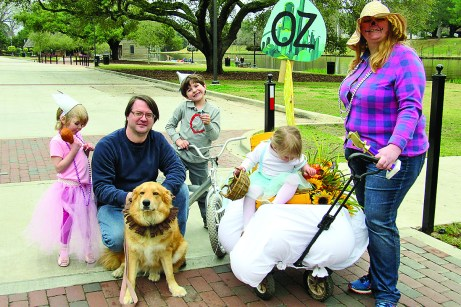 "The first place winner is the Stokes family, with a theme of ""The Wizard of Oz,"" including Kari, Sam, Patrick, Charlotte and Alison Stokes, with Lava as the Cowardly Lion."