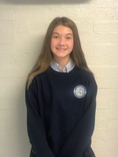 Hanna Gahagan of St. Mary's won in the state insect category (honeybee).