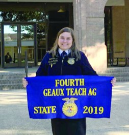 Salem Johnson placed fourth in the State Geaux Teach Ag Leadership Development Event (LDE).