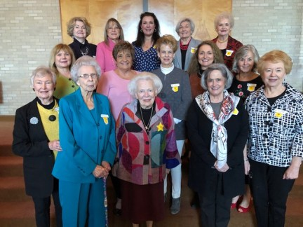 Chapter AU On first row from left are Peggy Williams, Laura Lavespere, Gayle Fitzhugh, Becky Osborn and Sue Hortman. On second row are Kathy Guin, Brenda Rinehart, Charlotte Cross, Lisa Prudhomme and Betti Alleman. On third row are Carolyn Roy, Arleen Mayeux, Nancy Rutledge, Martha Maynard and Rosie Finical.