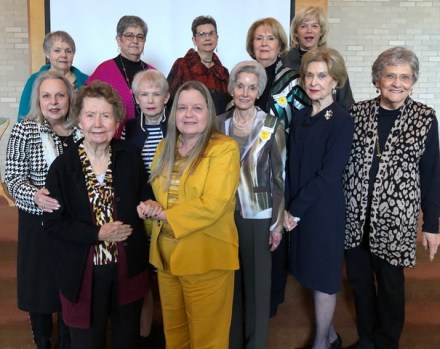 Chapter AP On first row from left are Chris Manning and Janice Bolton. On second row are Marion Johnston, Sharon Huey, Pat Thomas, Sarah Katherine Ahrens and Jane Hall. On third row are Linda Higginbotham, Cindy Chester, Susan Long, Liz Dalton and Sue Weaver.