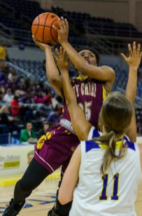 Nia Hardison scored seven points Tuesday in Natchitoches Central's 63-39 loss to Benton in the Class 5A semifinals. By Roderick Anderson