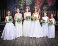 The Mystic Krewe de St. Denis presents daughters and granddaughters of members currently in third and seventh grades as Princesses. Those presented were Brylee Guillory, granddaugher of Brenda & David Coker; Ainsley Armstrong daughter of Tracy and Richard Armstrong; Anderson Kelly, daughter of Jennifer and Keenan Kelly; Addison Evans, daughter of Kris and John Evans; Annabel Gahagan, granddaughter of Sharon and Coley Gahagan; and Kallie Guidroz, granddaughter of Rhonda and Richard Guidroz.