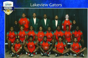 Lakeview High School basketball advanced to the state semi-finals. On front row from left are Michael Shields, Javonte Howard, Timothy Washington Jr. Alonzo Driver and Treston Carter. On middle row are Tevin Hickman, Nate Braden, Chris Washington Jr. Cameron Holden, Dillon Pikes, Udonis Jones, Cliff Jones Jr. and Mykell Slaughter. On back row are Erin Brown, Aldon Beavers, Malik Metoyer, Brian Williams, Dewaskie Fuller, Tommy Norman and Ally Hill.