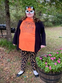 """Kathryn """"Kat"""" Daniels dressed up as the The Fall/Halloween Fox."""
