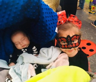 Huntar Stoker as Lady Bug with her little brother Gatlin Outlaw.