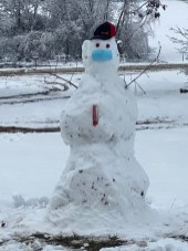 Sonja Parks submitted this snowman.