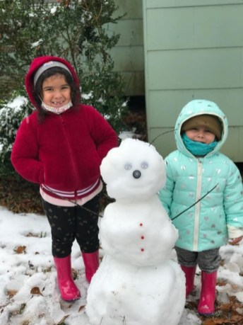From Many, is Addie and Danielle Zamora, enjoying their first snow and waiting on more. They are the daughter's of Leo and Katie Zamora.