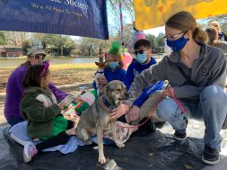 The dogs at the Natchitoches Humane Society were so excited to meet readers.