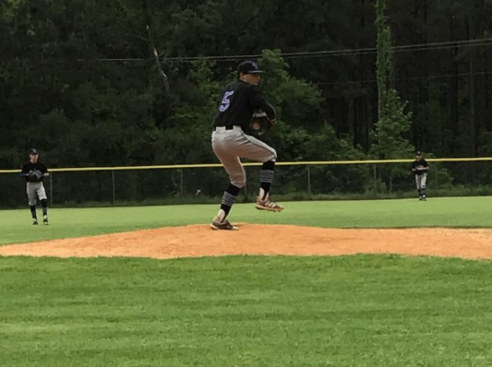 Payne Williams went four innings pitching left handed