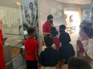 Students tour the Louisiana Sports Hall of Fame
