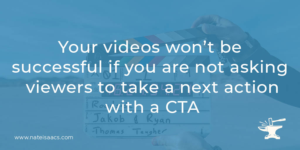 Image quote about the importance of a call to action for your video marketing