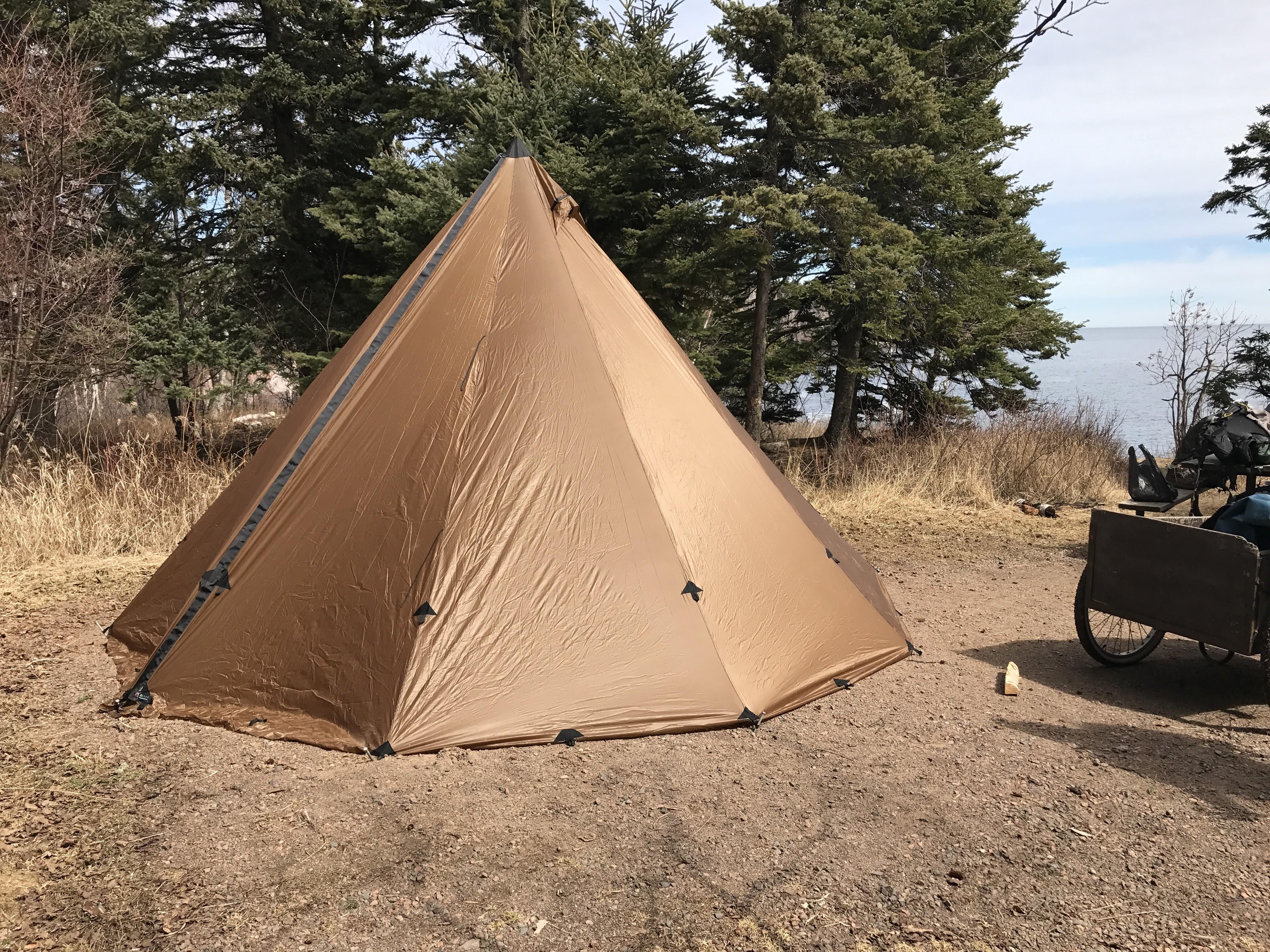 Seek Outside 8P Tipi (Coyote Brown) & Review: Seek Outside 8P Tipi w\ XL Wood Stove u0026 Liner ...