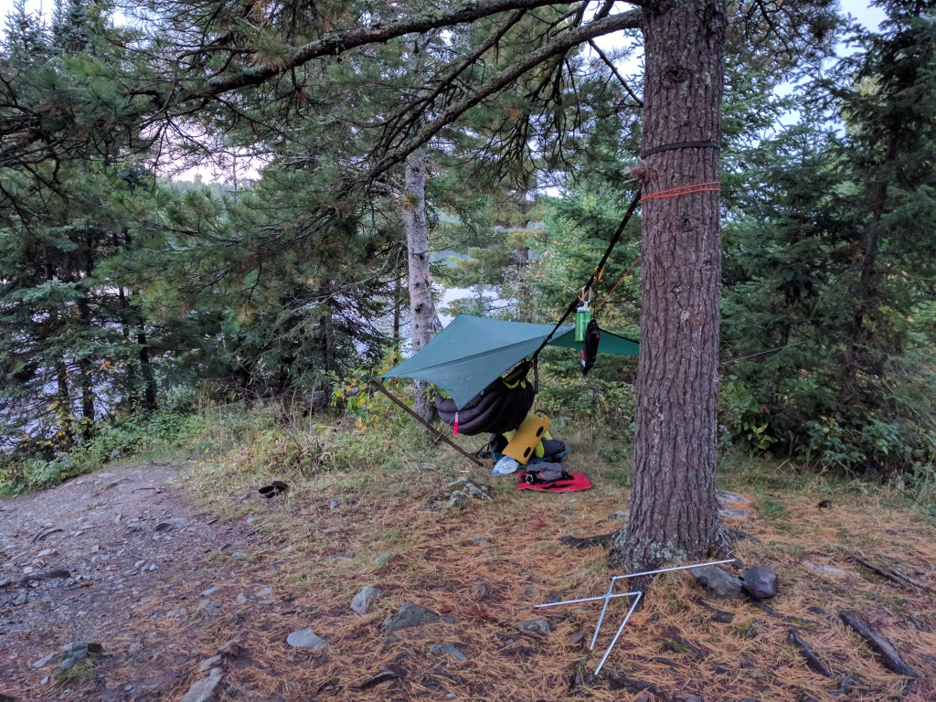 Hammock System on Ensign Lake September 2017