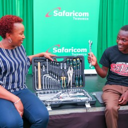 Safaricom's 30 millionth Customer, 19 Year Old Denis, Bags KES 300,000 Scholarship and KES 120,000 Airtime