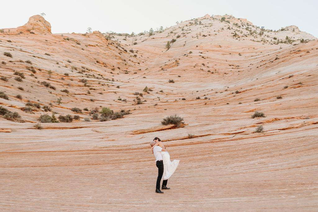 Elopement package day-before photos in Zion National Park