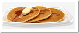 """McDonald's is probably the only place I've ever seen """"hotcakes."""" Everyone else in the world calls them pancakes. I think McDonald's figures that no matter what, with this name they'll sell like hotcakes."""