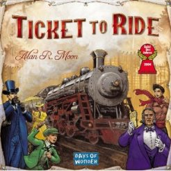 Yet another game that does not show game play on the front cover. Instead we have a motley crew of people who dress in one color running around a train.