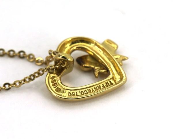 Beautiful Tiffany & . Solid 18k Yellow Gold Heart