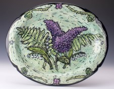Plate: Lilac, Lily of the Valley, Fern