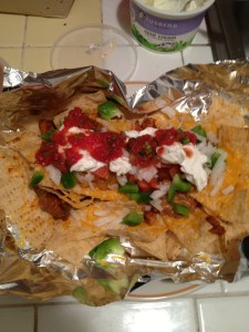 "After buying some chips at CostCo this week, I was able to make my famous nachos for the first time in a long time. They were delicious. A friend in college once referred to my nachos as a ""metaphor for life."""