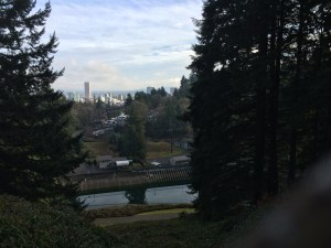 This is from my Christmas day run. Beautiful view of Portland.