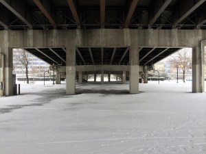 Under the Morrison Bridge