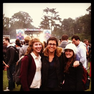 The Author and her friends at Outside Lands. The author is on the right.