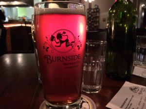 I went to join my friend Josh at a show featuring the hip-hop artist Shad. I arrived a bit late, right before the last performance. Josh had promised beer to anyone who came to join him, so we stopped at Burnside Brewing, across the street from the bus stop. This was an IPA and it was alright.