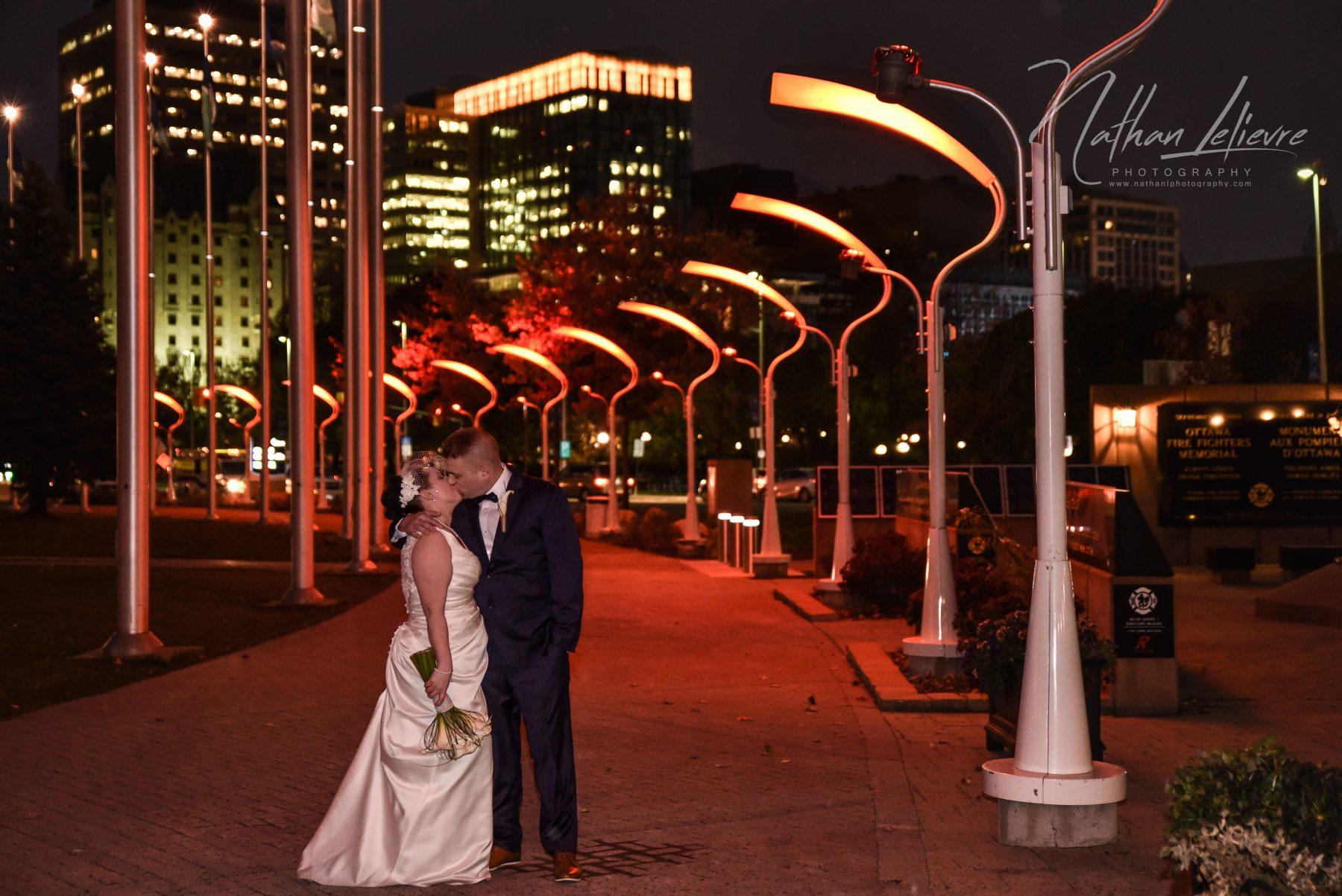 Ottawa Wedding Nighttime Skyline