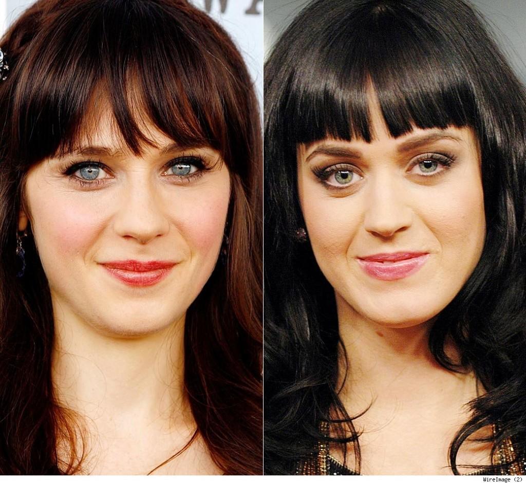 Katy Perry Looks like Zooey Deschanel, and vice versa ...