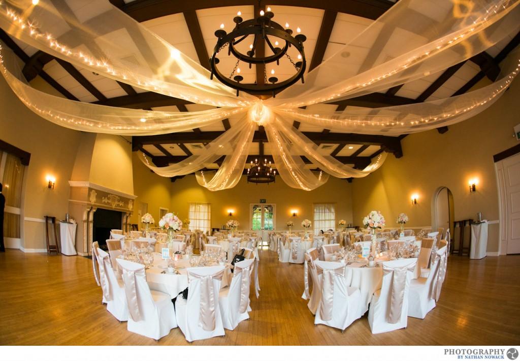 Altadena Country Club Wedding Indoor Reception Pasadena City