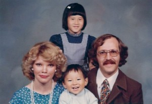 Adopted from Korea into an amazing family. This is my favorite worst family photo.