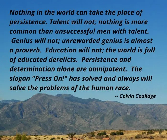 Calvin Coolidge Quotes Persistence: Nathan S. Gibson