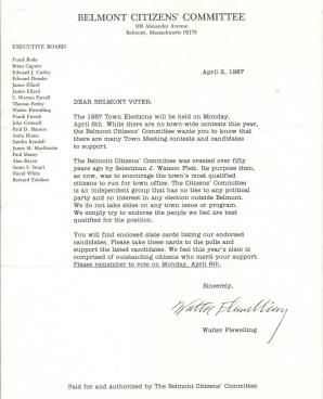 Nathan S. Gibson - 1987 Citizens Committee letter