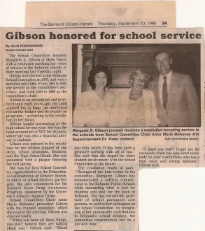 Nathan S. Gibson -- colleagues on the Belmont School Commitee