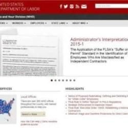 US DOL WHD Administrators Interpretation